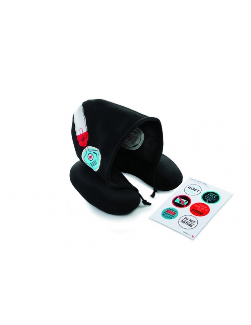 Travel pillow with hood - Silent Music (Black)