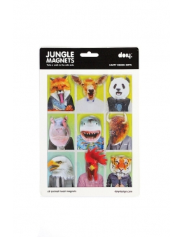 Magneter med jungle figurer - Jungle Magnets