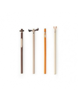 Pencil set of 4 – Woodland