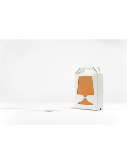 Flamp - bordlampe (Hvid/Orange)
