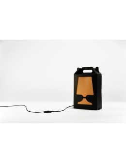 Flamp Noir - bordlampe (Sort/Orange)