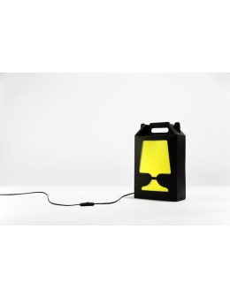 Flamp Noir - bordlampe (Sort/Gul)