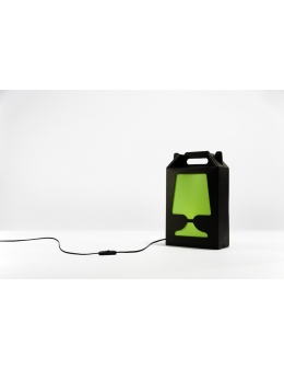 Flamp Noir - bordlampe (Sort/Lime)