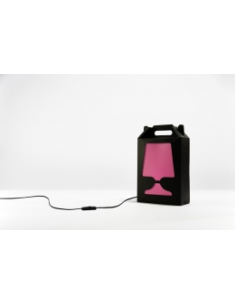 Flamp Noir - bordlampe (Sort/Pink)