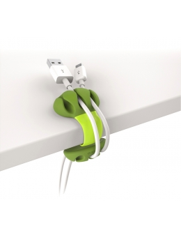 Cable Holder - Desk Cable Clip (Lime)