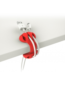 Cable Holder - Desk Cable Clip (Red)