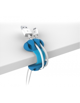 Cable Holder - Desk Cable Clip (Turquoise)