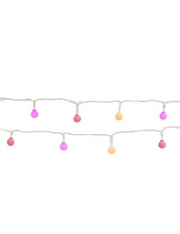 Lightbulb string lights (Pink, Yellow, Red)