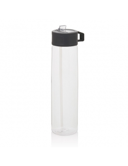 Drikkedunk Tritan bottle with straw Transparent