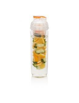 Vandflaske med infuser Water bottle i orange