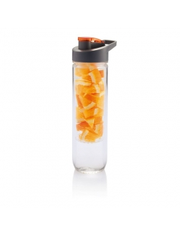 LOOOQS Vandflaske med infuser i orange